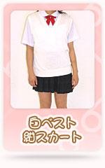 白ベスト紺スカート